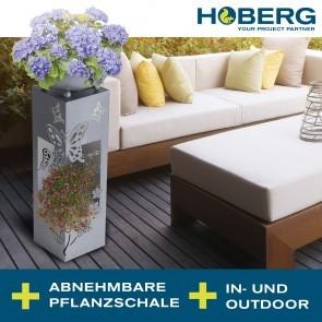 Hoberg LED Pflanzsäule in 3D Beton-Optik
