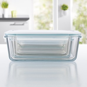 GOURMETmaxx Glas-Frischhaltedosen Klick-it 8-tlg. smaragdgrün