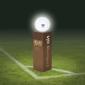 VfB Stuttgart LED-Dekosäule Rost-Optik mit Leuchtkugel - 84 cm - braun