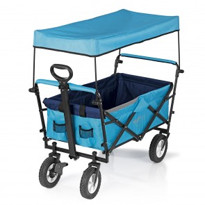 MAXXMEE Bollerwagen faltbar - Maximale Tragfähigkeit bis ca. 80 kg - blau