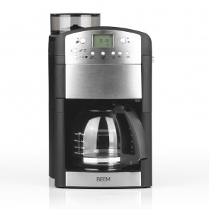 BEEM FRESH-AROMA-PERFECT Filterkaffeemaschine mit Mahlwerk - Glas | Thermostar | BASIC SELECTION | 24h-Timer