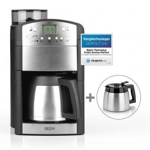 BEEM FRESH-AROMA-PERFECT Filterkaffeemaschine mit Mahlwerk - Thermo | 2 Isolierkannen