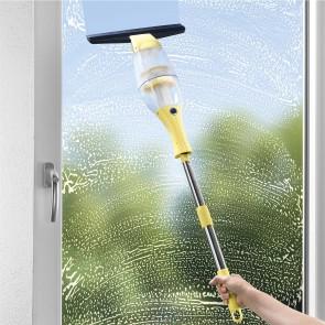 CLEANmaxx Akku-Fensterreiniger 3,7 V in Gelb mit Verlängerungsstange