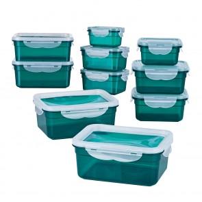 GOURMETmaxx Frischhaltedosen Klick-it - 20-tlg. - Smaragd