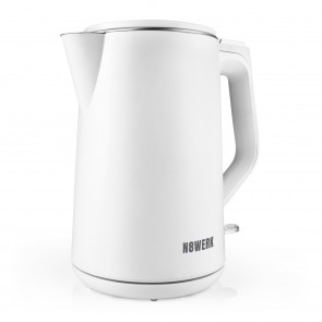 N8WERK Wasserkocher Moonlight White Edition - Fassungsvermögen 1,5 Liter