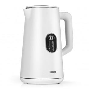 N8WERK Digitaler Wasserkocher mit Temperatureinstellung Moonlight White Edition