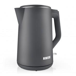N8WERK Wasserkocher Nordic Grey Edition - Fassungsvermögen 1,5 Liter