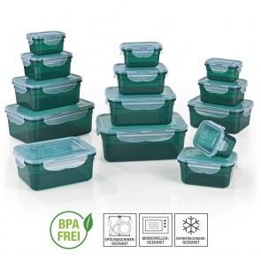 GOURMETmaxx Frischhaltedosen Klick-it 28tlg. - Smaragdgrün