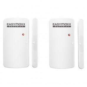 EASYmaxx Security Alarmanlage für Türen & Fenster in Weiß mit Fernbedienung - Freisteller