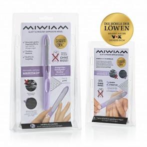 MIWIAM Nagelfeile für Finger- und Fußnägel - flieder