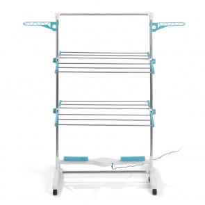 EASYmaxx Wäscheständer elektrisch weiß/türkis