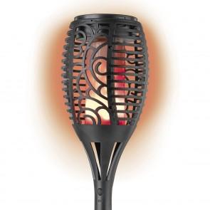 EASYmaxx Solar-Fackel mit Farbwechsel - schwarz