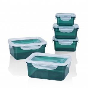 GOURMETmaxx Frischhaltedosen Klick-it 10-tlg. - Smaragd