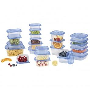 GOURMETmaxx Frischhaltedosen - 50-teiliges Se - blau
