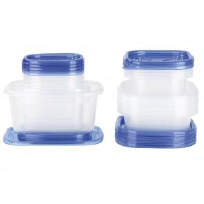GOURMETmaxx Frischhaltedosen - 50-teiliges Set - blau