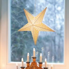 CHRISTmaxx LED-Holzdeko Weihnachts-Stern 40 cm Naturfarben