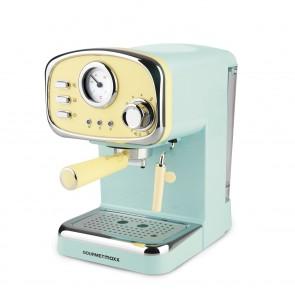 """GOURMETmaxx Espresso-Maschine """"Retro"""" - Füllmenge 1,2 l - 1100 Watt - vanille/mint"""