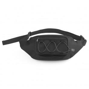 EASYmaxx Multifunktions-Bauchtasche - Flexibel einstellbarer Hüftgurt - schwarz