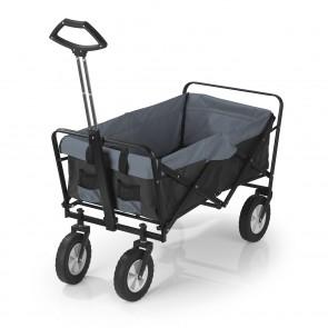EASYmaxx Bollerwagen - Faltbar - Tragfähigkeit bis ca. 80 kg - schwarz/grau
