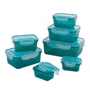 GOURMETmaxx Frischhaltedosen smaragdgrün 14-teilig - Lieferumfang