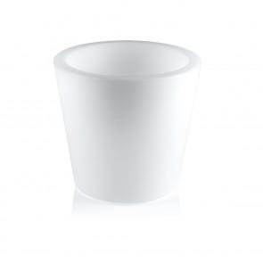 MAXXMEE LED-Blumenkübel mit Farbwechsel - rund - 28 cm - weiß