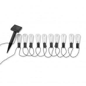 EASYmaxx Solar-Lichterkette Glühlampe 1,2V schwarz