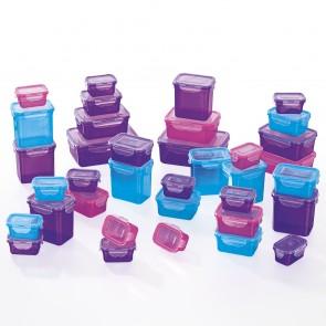 GOURMETmaxx Frischhaltedosen Klick-it 72-tlg. in Lila, Pink und Türkis - Freisteller