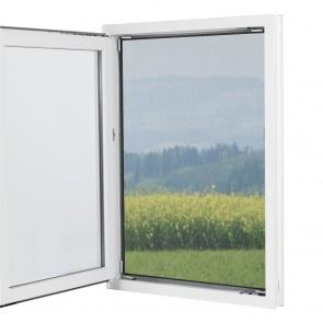 EASYmaxx Moskitonetz mit Pollenschutz mit Magnetbefestigung fürs Fenster - 150 x 130 cm - grau