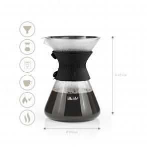 BEEM POUR OVER Kaffeekaraffe mit Permanentfilter - 6 Tassen | 3-teilig