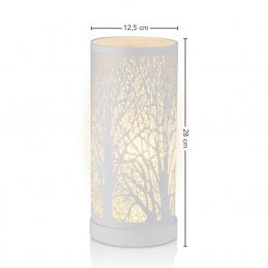 EASYmaxx Edelstahl-Leuchte Magic Touch Waldmotiv - 28 cm - weiß