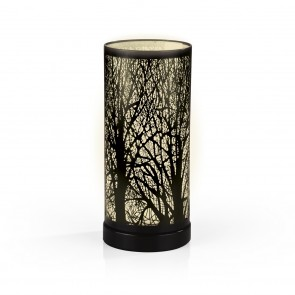 EASYmaxx Edelstahl-Leuchte Magic Touch Waldmotiv - 28 cm - schwarz