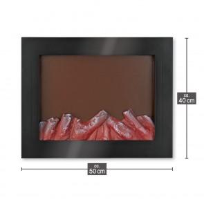 EASYmaxx LED-Kamin - Kabellos mit Timerfunktion - schwarz