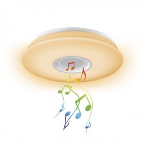 EASYmaxx LED-Deckenleuchte - Lampe, Partyleuchte & Bluetooth®-Lautsprecher - weiß