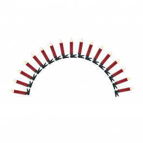 CHRISTmaxx Kerzenzauber kabellos 17-tlg. 1,5V in Rot mit Fernb. + Timer inkl. Batterien