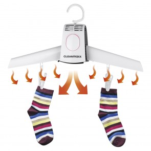CLEANmaxx Kleiderbügel mit Trockenfunktion - weiß