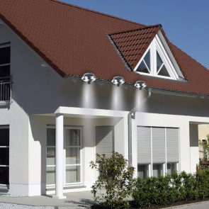 EASYmaxx Solar Dachrinnenleuchten in Edelstahl, 3er-Set