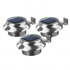 EASYmaxx Solar-Dachrinnenleuchten 3er-Set Edelstahl - Lieferumfang 3er Set