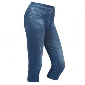 SLIMmaxx Jeans-Leggings 3/4 - Blau