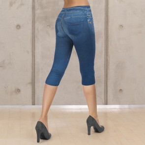 SLIMmaxx Jeans-Leggings 3/4 - Blue Denim - Gr. 46/48