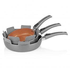 BRATmaxx Keramik-Hochrandpfannen 3-tlg., kupferfarben - Freisteller 1