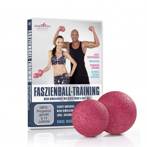 VITALmaxx Faszienball 2-tlg. 8/10 cm - Rosa + DVD