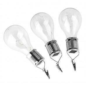 EASYmaxx Solar-Glühlampe mit 5 Micro-LED 3er-Set 1,2V - Warmweiß