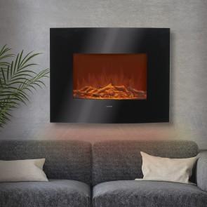 EASYmaxx Elektro-Wandkamin mit Flammeneffekt - Schwarz
