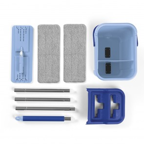 CLEANmaxx Komfort-Mopp Smart - 2 Kammern-System - blau