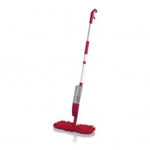 CLEANmaxx Spray-Mopp flexibel in Rot + Ersatz-Wischtuch 2er-Set