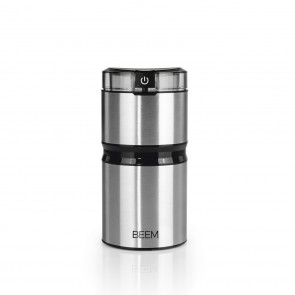 BEEM AROMA DELUXE Kaffeemühle - 60 g | Flachklingenmahlwerk | 150 W
