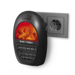 EASYmaxx Mini-Heizung Kamin-Optik - 400W - schwarz