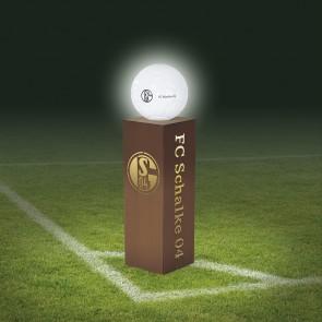 FC Schalke 04 LED-Dekosäule Rost-Optik mit Leuchtkugel - 84 cm - braun
