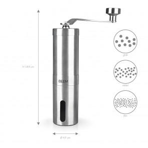 BEEM GRIND-2-GO Manuelle Kaffeemühle – 40 g