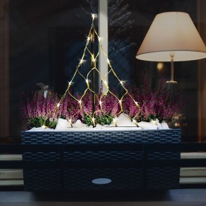 CHRISTmaxx LED-Lichterbaum 58 cm 4,5 V
